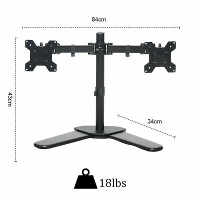 £34.99 • Buy Fully Adjustable Double Monitor Bracket Dual Arm Desk Stand PS4 XBOX PC GAMING