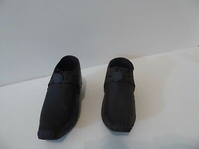 $ CDN135.32 • Buy Antique Primitive Leather Wood Metal Childs Shoes Decorated Buckle C 1800s  (S0