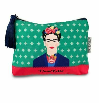 £9.95 • Buy Frida Kahlo Green Vogue Retro Small Cosmetic Makeup Wash Bag New With Tags
