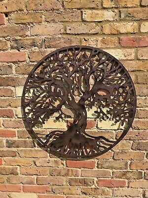 Tree Of Life Garden Wall Art Ornament Fence Metal Gift Present In/Outdoor  • 44£