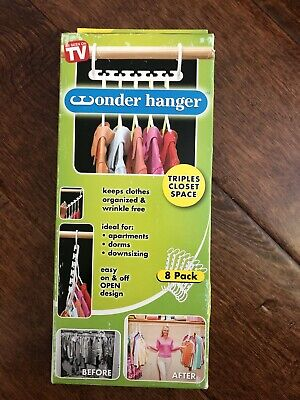 $15.99 • Buy NEW Wonder Hanger Closet Space Saver Clothing Organizer 8 Pack As Seen On TV
