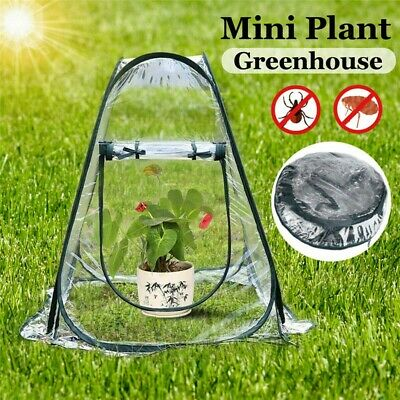 Mini Pop Up Garden Plants Flowers Cover Tent PVC Greenhouse Cloche Propagator • 16.99£