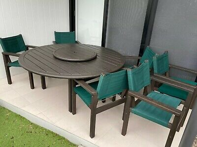 AU495 • Buy Devon (Kwila Timber) 6 Seater Outdoor Setting In Excellent Condition