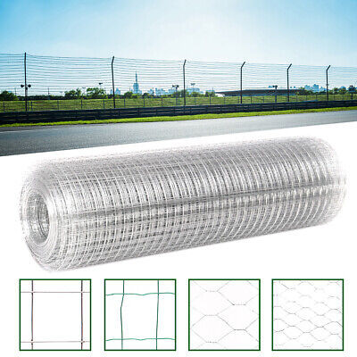 Fence Panels Galvanised Iron Wire Net Chicken Rabbit Animal Cage Protective Mesh • 57.95£