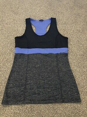 AU5 • Buy Oysho  Fitness Womens Top Black/Grey/Blue Size Medium