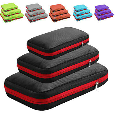 AU19.19 • Buy 1* Compression Packing Cubes Travel Luggage Organizers W/ Double Compartment