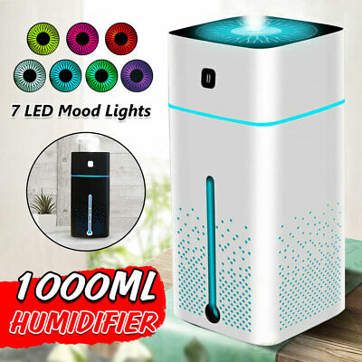 AU21.85 • Buy 1000ML Ultrasonic Air Humidifier Cool Mist Aroma Diffuser Purifier 7 Color LED
