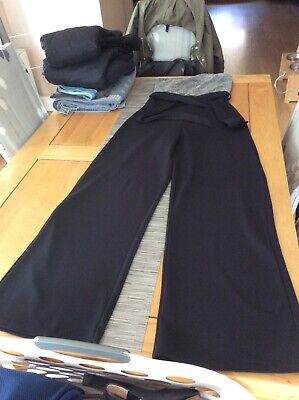Quiz Size 10 Jumpsuit Black And Silver Strapless And Wide Leg Stunning • 2.30£