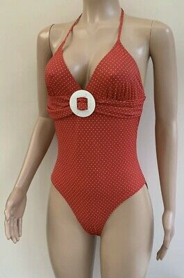 Per Una Red White Polka Dot Swimsuit Swimming Costume UK 18 TALL LONG  BNWT • 17.99£