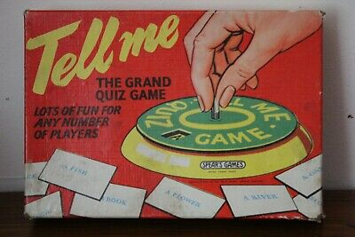 VINTAGE 'TELL ME...' - THE GRAND QUIZ GAME SPEAR'S GAMES - Complete • 5£