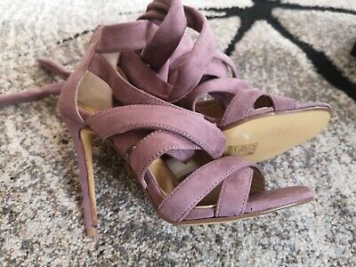 Missguided Purple Heels Party Prom Shoes UK 5 Faux Suede  • 10£