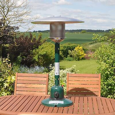 4kW Garden Gas Patio Heater Outdoor Table Top Polished Stainless Steel • 149.99£