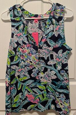 $49.50 • Buy NWT LILLY PULITZER ESSIE KNIT TOP SWAY THIS WAT BRIGHT NAVY Size Large