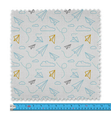 Childrens Paper Planes Pattern Fabric 21 Variations Price Per Metre LSFABRIC091 • 9.99£