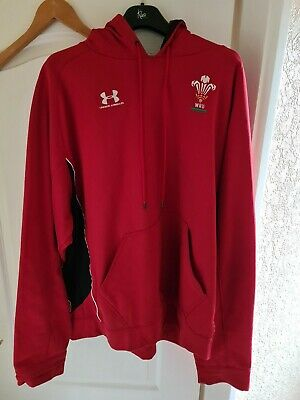 Under Armour Wales Rugby Union Hoody Size Xxl • 10.50£