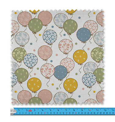 Cute Balloons Pattern Fabric 21 Variations Price Per Metre LSFABRIC097 • 9.99£