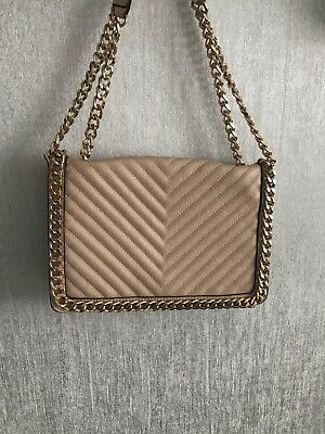 Aldo Cross Body Bag Nude With Gold Chain. Great Condition. RRP £50 • 17£