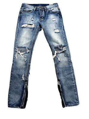 $ CDN73.82 • Buy MNML M1 Denim Distressed With Knee Blowouts Sz 31 EUC