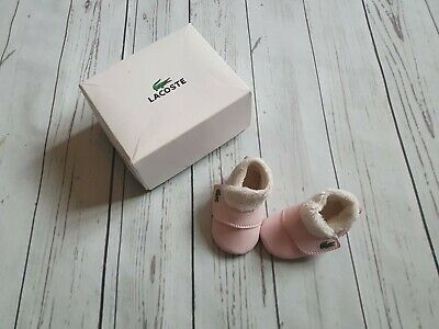 Baby Girl Lacoste Crib Shoes Size 0 Newborn 0-3 Months 🎀 • 3.20£