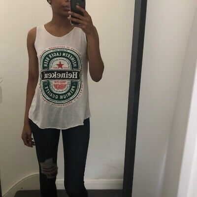 Heineken Graphic Logo Cotton Blend Vest Top Meduim • 10£