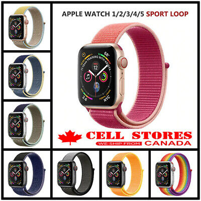 $ CDN9.95 • Buy Sports Loop Nylon Woven Band Strap For Apple Watch IWatch Series 1 2 3 4 5 6