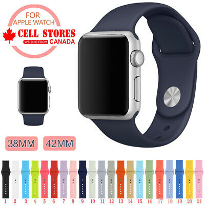 $ CDN8.88 • Buy Soft Silicone Wrist Strap Sports Band For Apple Watch IWatch Series 1 2 3 4 5 6