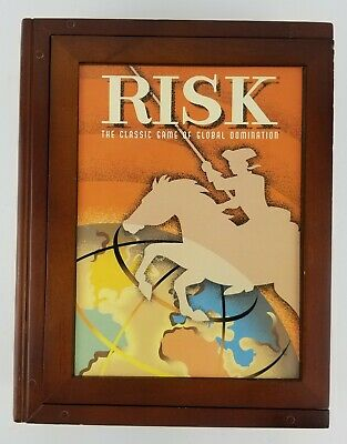 $24.99 • Buy Risk Classic Collection Game Wooden Library Bookshelf Edition Parker Brothers