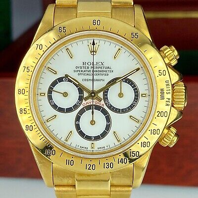 $ CDN124783.10 • Buy Vintage Rolex Daytona 16528 Porcelain Floating Dial 18k Zenith 1988 R Serial