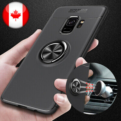 $ CDN6.99 • Buy Metal Ring Case For Samsung Galaxy S20 S10 S9 S8 Plus A51 A71 Phone Soft Case