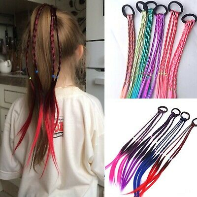 $ CDN12.67 • Buy Twist Braid Rope Colorful Ponytail Ornament Hair Accessories Charm For Kids New