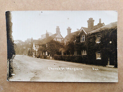 CHURCH STREET, WARGRAVE Old Real Photo Postcard • 1.99£