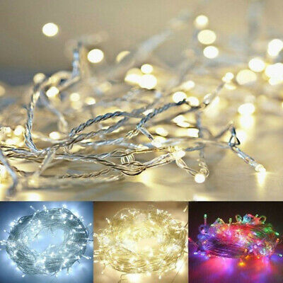 20-80 LED Warm White String Fairy Lights Battery Operated Xmas Party Decorations • 5.59£