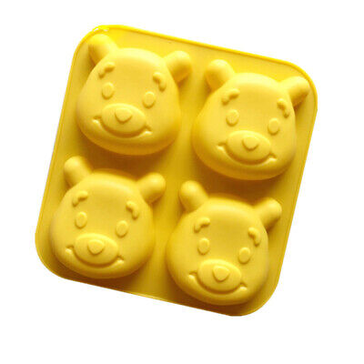 3D Teddy Bear Face Silicone Baking Shaping Mould Cake Jelly Moulds 14x14x3cm • 8.54£