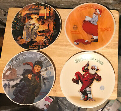 $ CDN26.99 • Buy Norman Rockwell 4 Plate Lot Of Christmas Collectors Plates Limited Edition