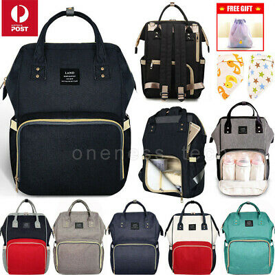 AU24.50 • Buy Multifunctional GENUINE LAND Large Baby Diaper Backpack Mummy Nappy Changing Bag