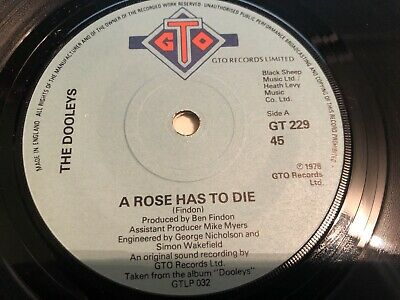 The Dooleys - A Rose Has To Die 7  Vinyl Single Record • 2.19£