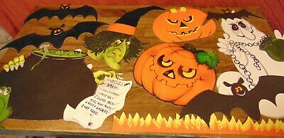 $ CDN46.24 • Buy Halloween - Vintage 10 Piece LOT - Decorations - Witch, Ghost, Jack-O-Lanterns