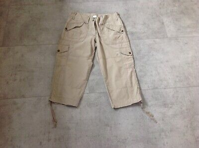 Ladies Size 10 Khaki Cropped Trousers By M&S • 3.50£