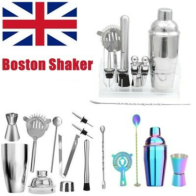 4/9/12 Cocktail Boston Shaker Making Kit 550ml Stainless Bar Bartender Tool Gift • 13.99£