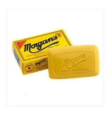 £3.95 • Buy Morgan's Anti Bacterial Medicated Soap 80g Acne Face Body Protects 99.9% Germs