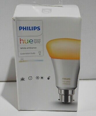 AU63.74 • Buy Philips Hue White Ambiance 10W B22 Extension Bulb