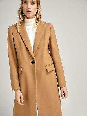 AU219 • Buy NEW! Massimo Dutti (Zara Group High End Label) 75% Wool Camel Coat EU34 Or AU6