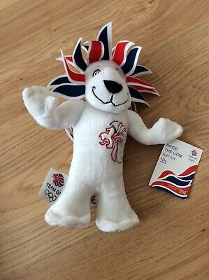 PRIDE THE LION - 2012 London Olympics Team GB Official Mascot 9  Soft Plush Toy  • 3.50£