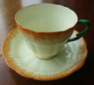 Crown Staffordshire Sylvan Pattern Cup & Saucer (30s/40s?)  • 8.99£