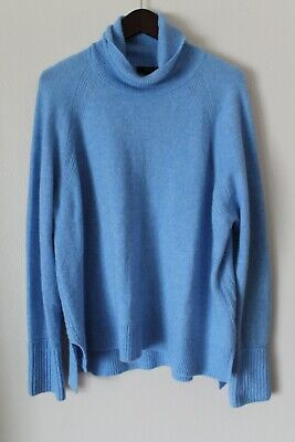 $9.99 • Buy J Crew Turtleneck Sweater With Side Slits In Supersoft Yarn Sz XL H4131 Blue