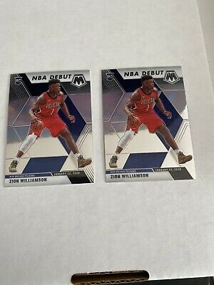 $35 • Buy 2019-20 Mosaic Zion Williamson NBA Debut Rookie RC Pelicans Lot Of (2)