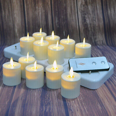 £40 • Buy Luminara Flameless Rechargeable Tea Light Candles Moving Wick Flickering Timer