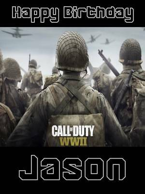 £2.99 • Buy Personalised Call Of Duty World War 2 Birthday Greeting Card & Envelope 612