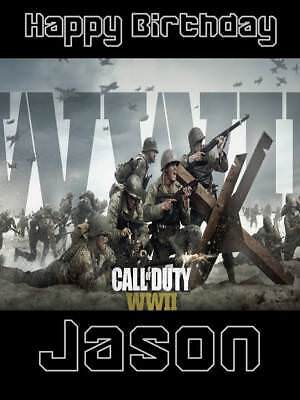£2.99 • Buy Personalised Call Of Duty World War 2 Birthday Greeting Card & Envelope 613