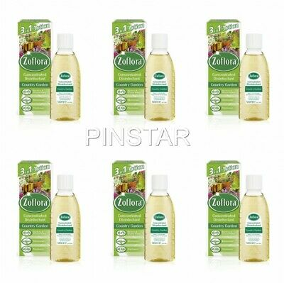 6 X 120ml Zoflora Concentrate Country Garden ZOFLORA DISINFECTANT GREAT PRICE  • 11.99£